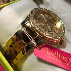 Catherine Malandrino Accessories - 🌹New Catherine Malandrino Watch Gold & Tortoise