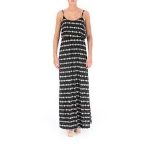 American rag dress colorblock halter maxi dress