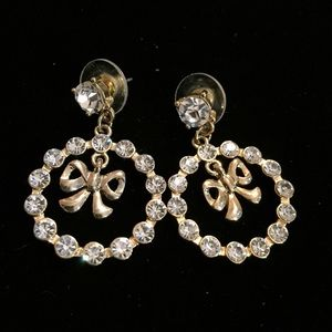 Jewelry - Betsy Johnson Rhinestone hoops