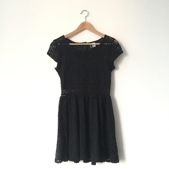 Black Lace Cap Sleeve Dress Poshmark