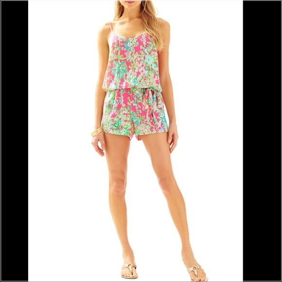 9976845c3b2 Lilly Pulitzer Pants - Lilly Pulitzer Deanna Romper in Southern Charm