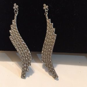 Jewelry - Rhinestone wing earrings
