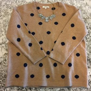 Madewell Polka Dotted Crew Sweater Top