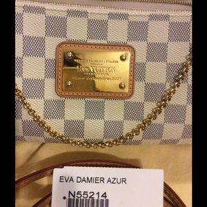 Louis Vuitton Bags - Louis Vuitton Eva clutch damier azur