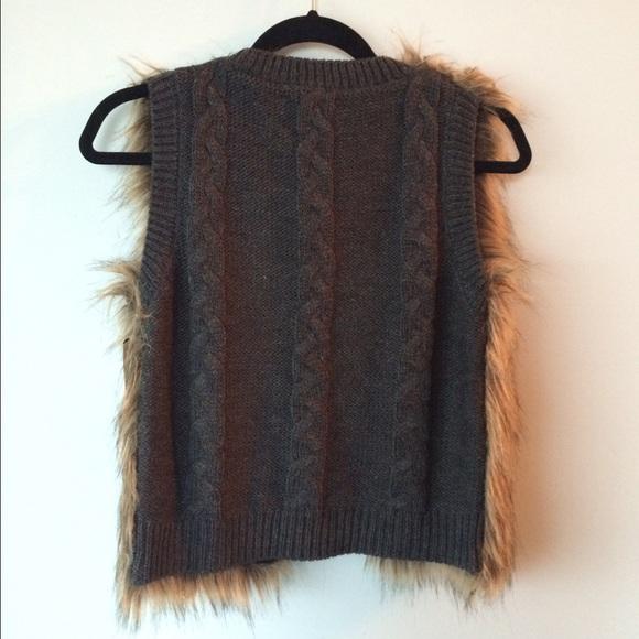 Miss Me Jackets & Coats - Miss Me Faux fur beaded Vest