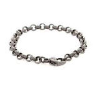 "NEW! 7.5"" STAINLESS STEEL CHAIN BRACELET"