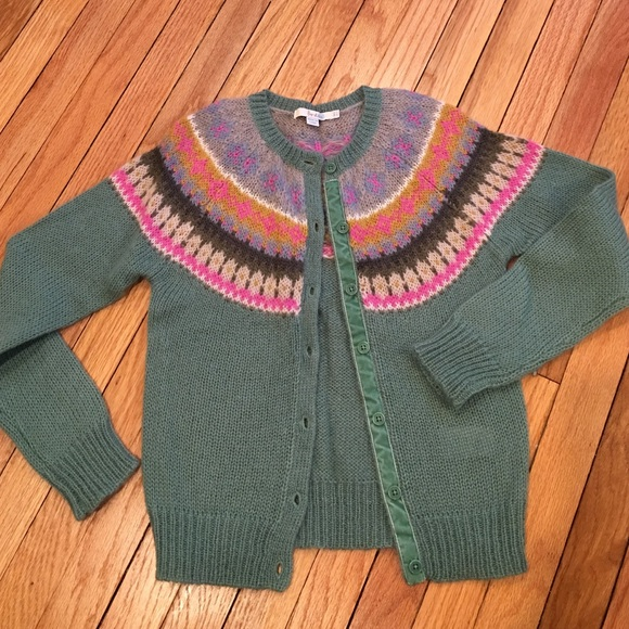 59% off Boden Sweaters - Boden fair isle cardigan from Nicole's ...