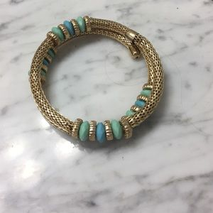 Jewelry - Teal and gold bracelet