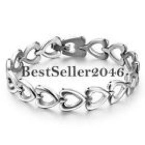 NEW! STAINLESS STEEL OPEN HEART INFINITY BRACELET
