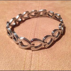 STEEL BY DESIGN Jewelry - NEW! ❤️ STAINLESS STEEL HEART INFINITY BRACELET