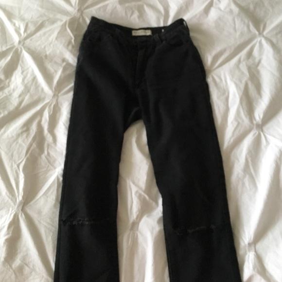 Black High Waisted Knee Slashed Skinny Jeans. M 58739889d14d7b9a711141b6 39e334db49ea