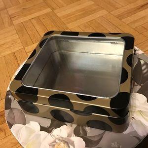 Gold/black aluminum box for make up/jewelry, etc.