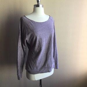 F21 Lavender Off Shoulder Sweater