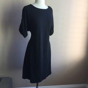 Black Cozy Sweater Dress