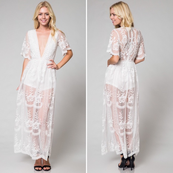 a78210a33ddc Honey Punch Lace Maxi Romper