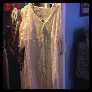 Torrid white lace dress-New!