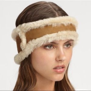 UGG Australia Women's Brown Shearling  Headband