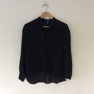 David Lerner black blouse S