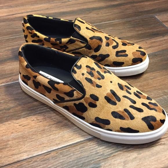 17fedb42d6f Steve Madden Leopard Sneakers -- Ecentrcq Slip-On.  M 5873b3602599feafc7006c3e