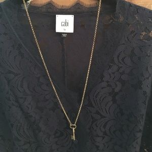 NEW w/ tags gold plated key necklace.