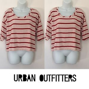 Urban Outfitters Tops -   Project Social T   Red Striped Flowy Cropped Top