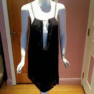Sisley black chained dress