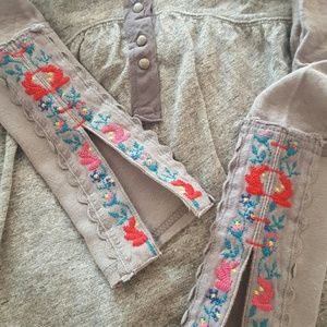 Free People embroidered long sleeve