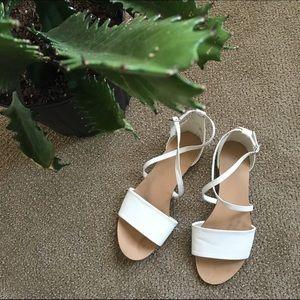 Strappy White Sandals
