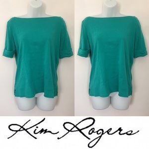 Kim Rogers Tops - 🍍CLEARANCE🍍 Kim Rogers Turquoise 1/4 Sleeve Top