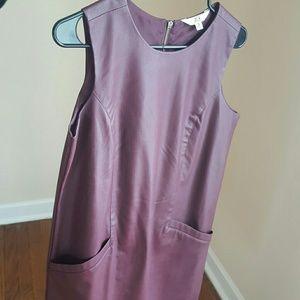 Burgundy Vegan Leather Dress