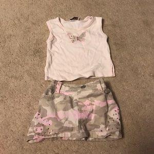 Little Lass Other - Little Lass girls shirt and skirt 12mos