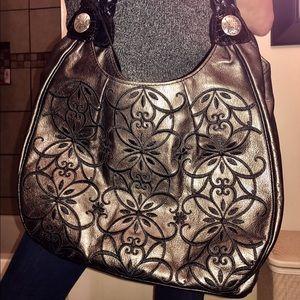 Brighton Handbags - BRIGHTON Pewter & Black Scroll Purse! 395.09!! NEW