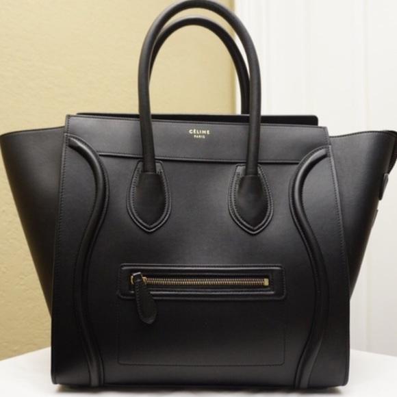 0cd5c1f9d326 Celine Bags   Sold Smooth Black Mini Luggage   Poshmark