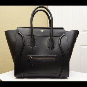 Celine Handbags - Celine Smooth Leather Calf Skin Mini Luggage