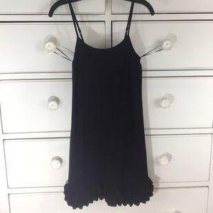 Express chemise dress. Ruffed bottom