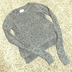 Grey Knit Abercrombie & Fitch Sweater