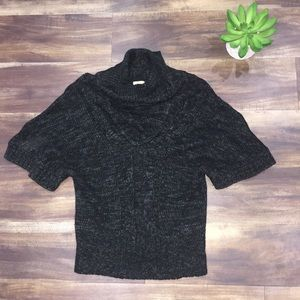 Ya Los Angeles Black and gray cowl neck sweater