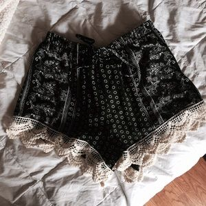 Free People Pants - Lace Shorts
