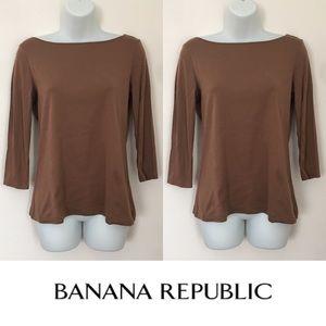 Banana Republic Tops - 🍍CLEARANCE🍍Banana Republic Brown Refined Rib Top