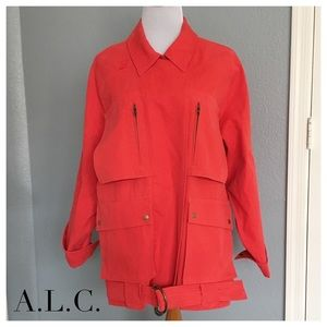 A.L.C. Jackets & Blazers - A.L.C. Red Cotton Belted Short Coat