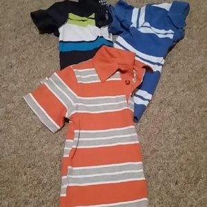 Bundle of 3--Toddler boys stripped colared shirts