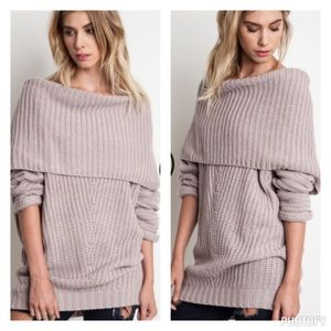 Sweaters - Over shoulder sweater