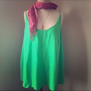 Simply Be Tops - Lime Green Cami