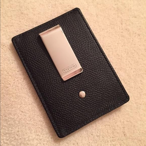 ea276176 Coach Men's money clip wallet