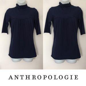 Anthropologie Tops -   Ben and Lucia   Adorable Navy Turtleneck Blouse