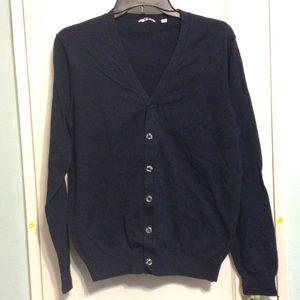 Uniqlo Sweaters - Uniqlo Navy Blue Cardigan