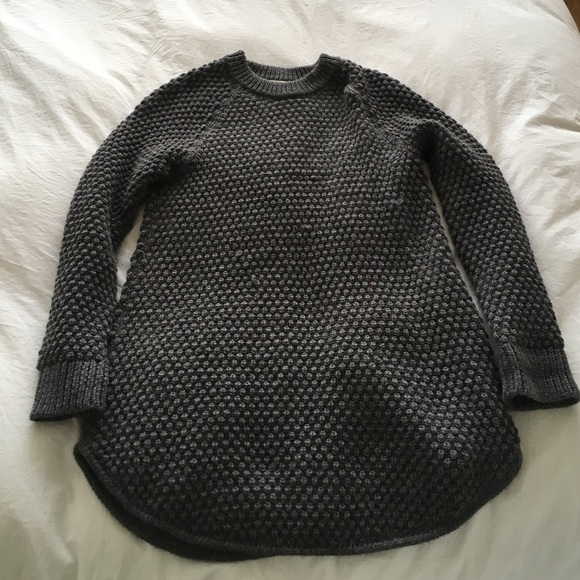 7a468c5924 Ali Golden Sweaters - Ali Golden chunky charcoal knit sweater dress