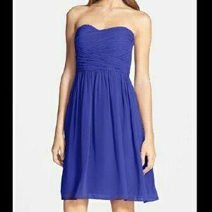 Donna Morgan Dresses & Skirts - Strapless Ruched Chiffon Dress