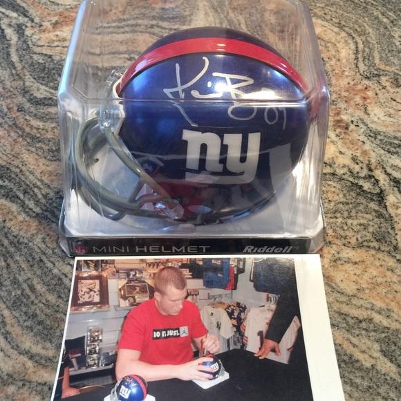 8f6a72e80 ... Kevin Boss autograph Mini Helmet. M 5873e0be620ff745a112308f