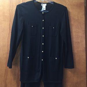 Talbots elegant 2-piece black pantsuit